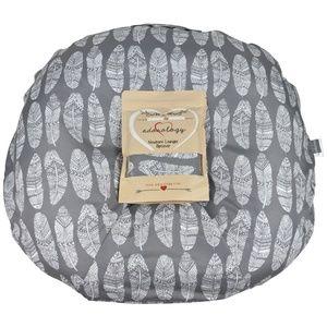 Newborn Lounger Slipcover GrayWhite Feather Design